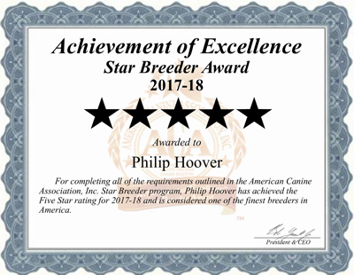 philip, hoover, ACA-certificate, dog, breeder, philip-hoover, memphis, mo, usda, kennel